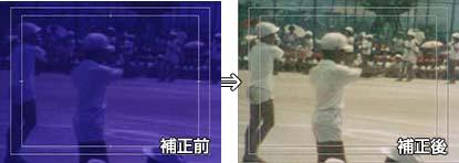 変色したフィルムの補正イメージ