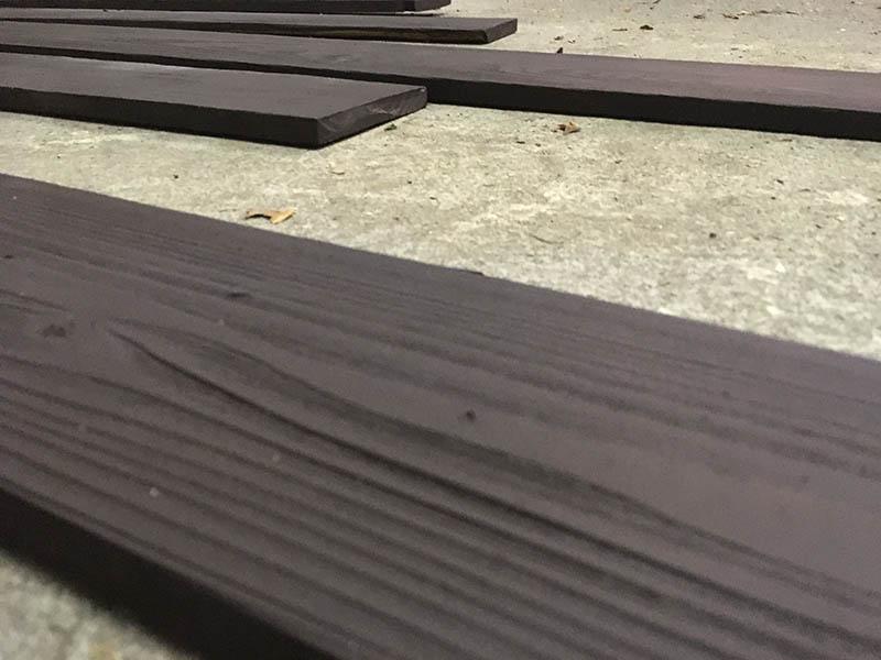板材の仕上がり