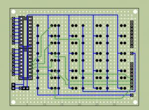 リレー基板実態配線図